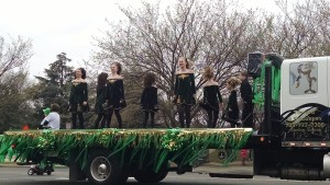 Dancers in the St. Paddy's parade